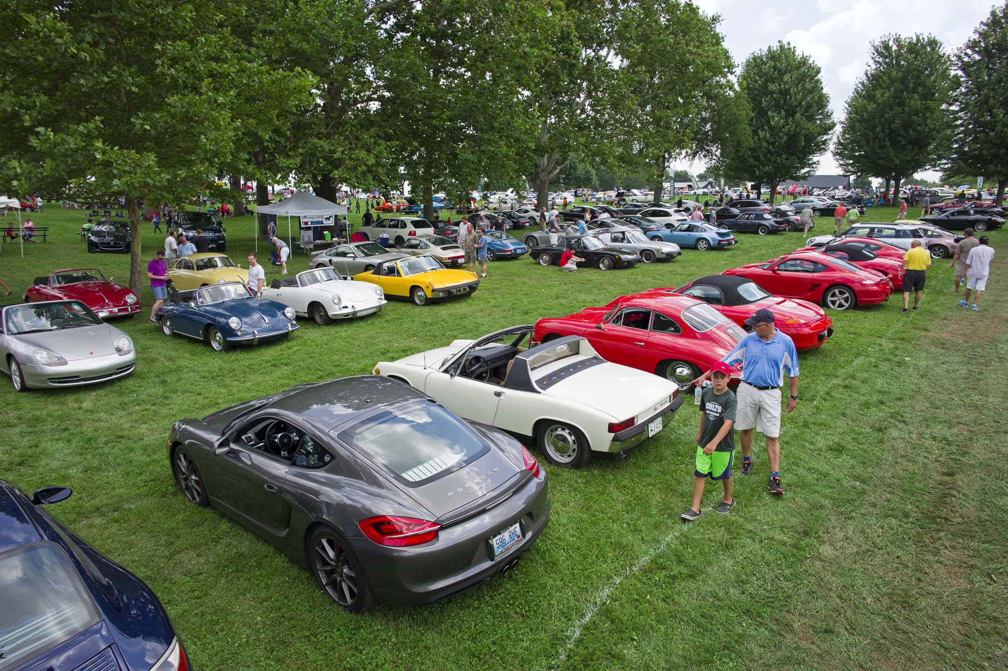 2015 Keeneland Concours d.Elegance. Porsche Club of America (Bluegrass Region) Paddock.   Photo by Joseph Rey Au